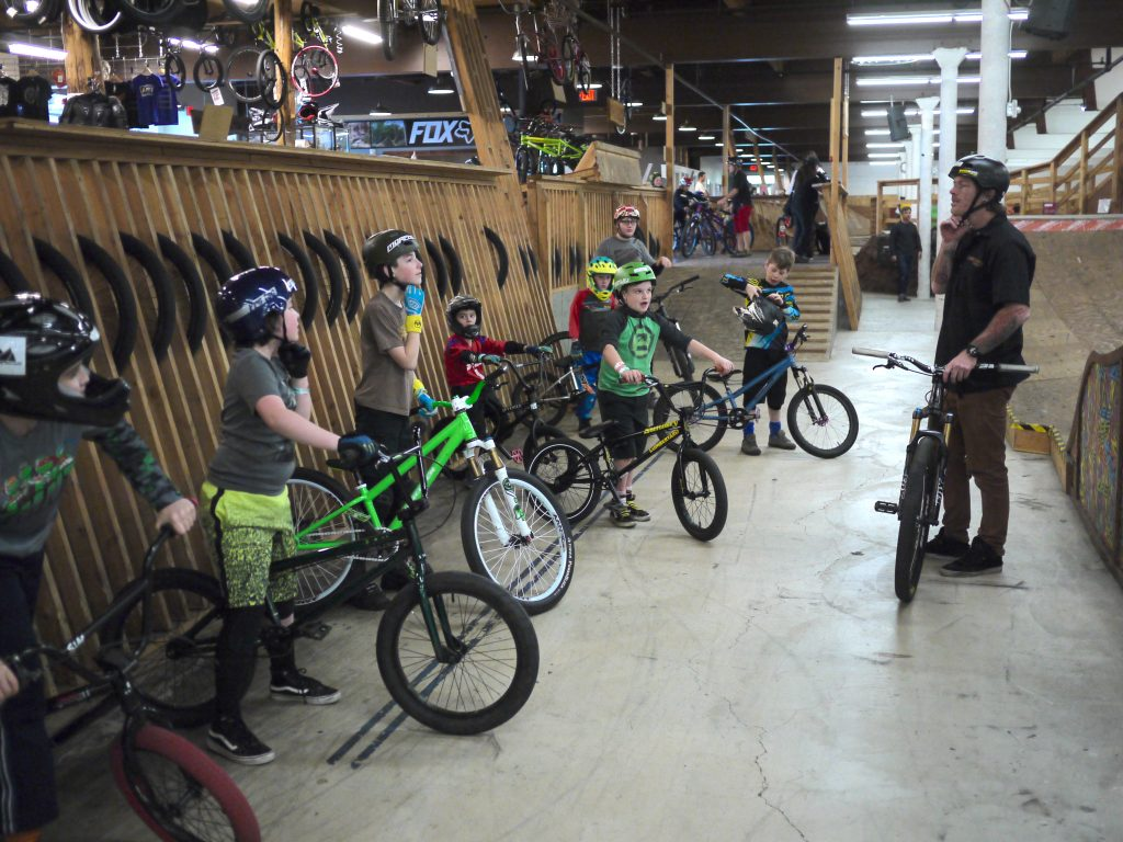 Bike Skills Instructor with Students